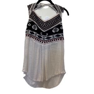 Lucky Brand cotton tank top cut out back/small